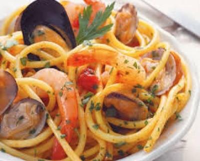 Pasta con frutos del mar